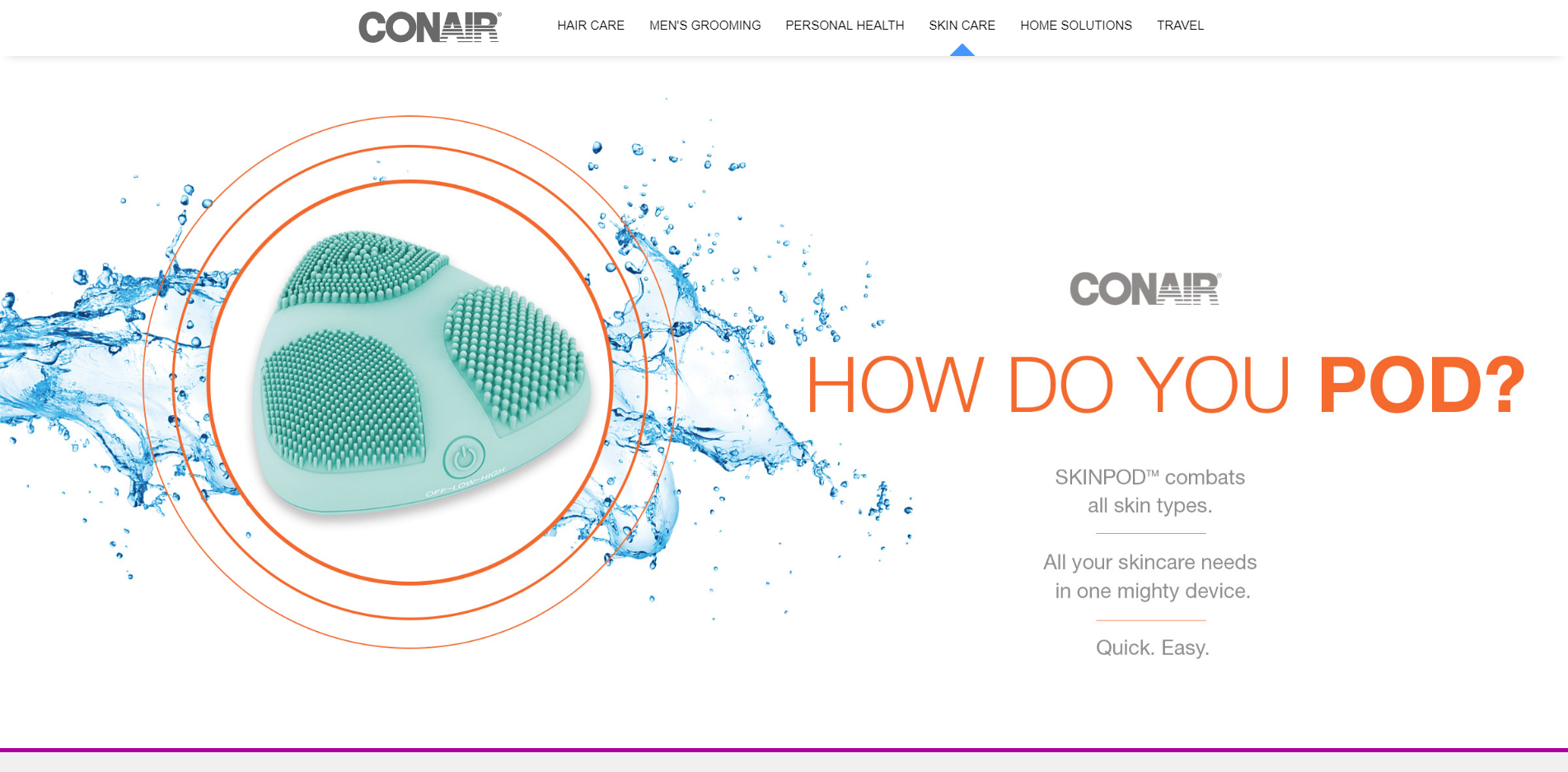 Conair - skin care Banner design