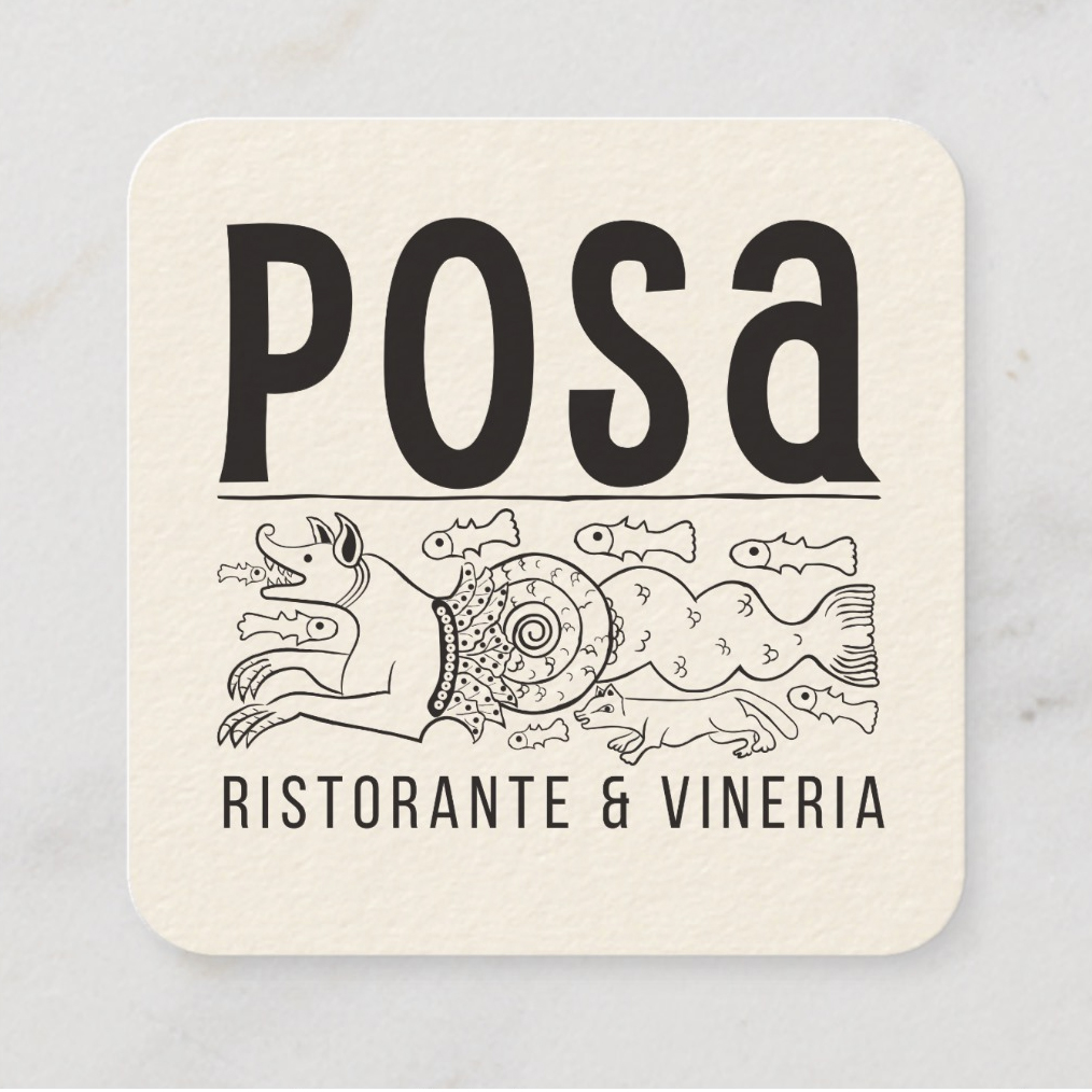 Posa Ristorante Logo & Business Card