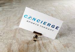 Concierge sports therapy logo design