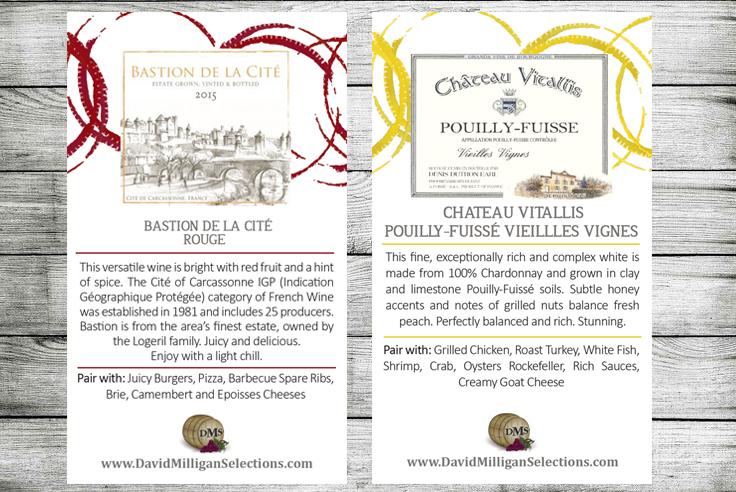 Wine spec label