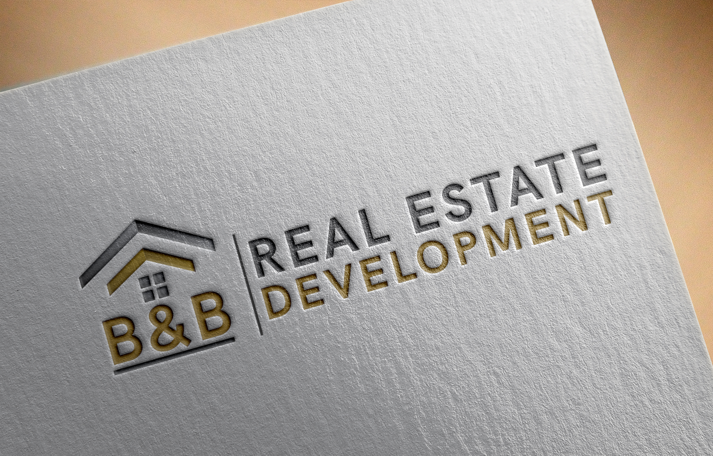 B&B Real Estate Logo Design