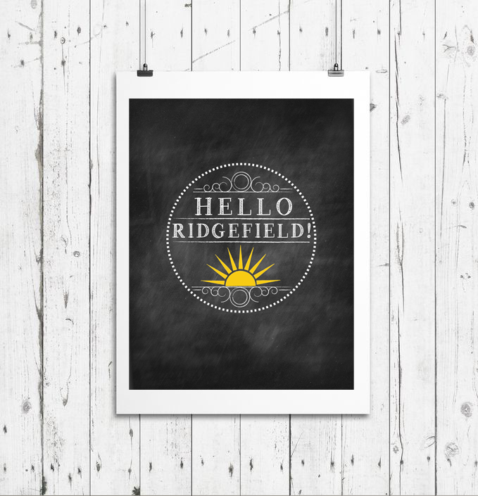 Hello Ridgefield Logo Design