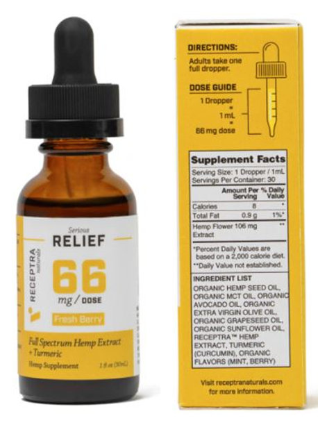 Super Serious Relief + Turmeric Tincture 66mg/dose (2oz)