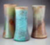 Wood fired MicroCrystalline Beaker Vases