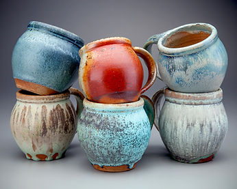 Woodfired Shino and Micro-Crystalline Mugs