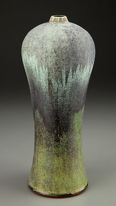 Micro-Crystalline Wood fired High Shouldered Vase