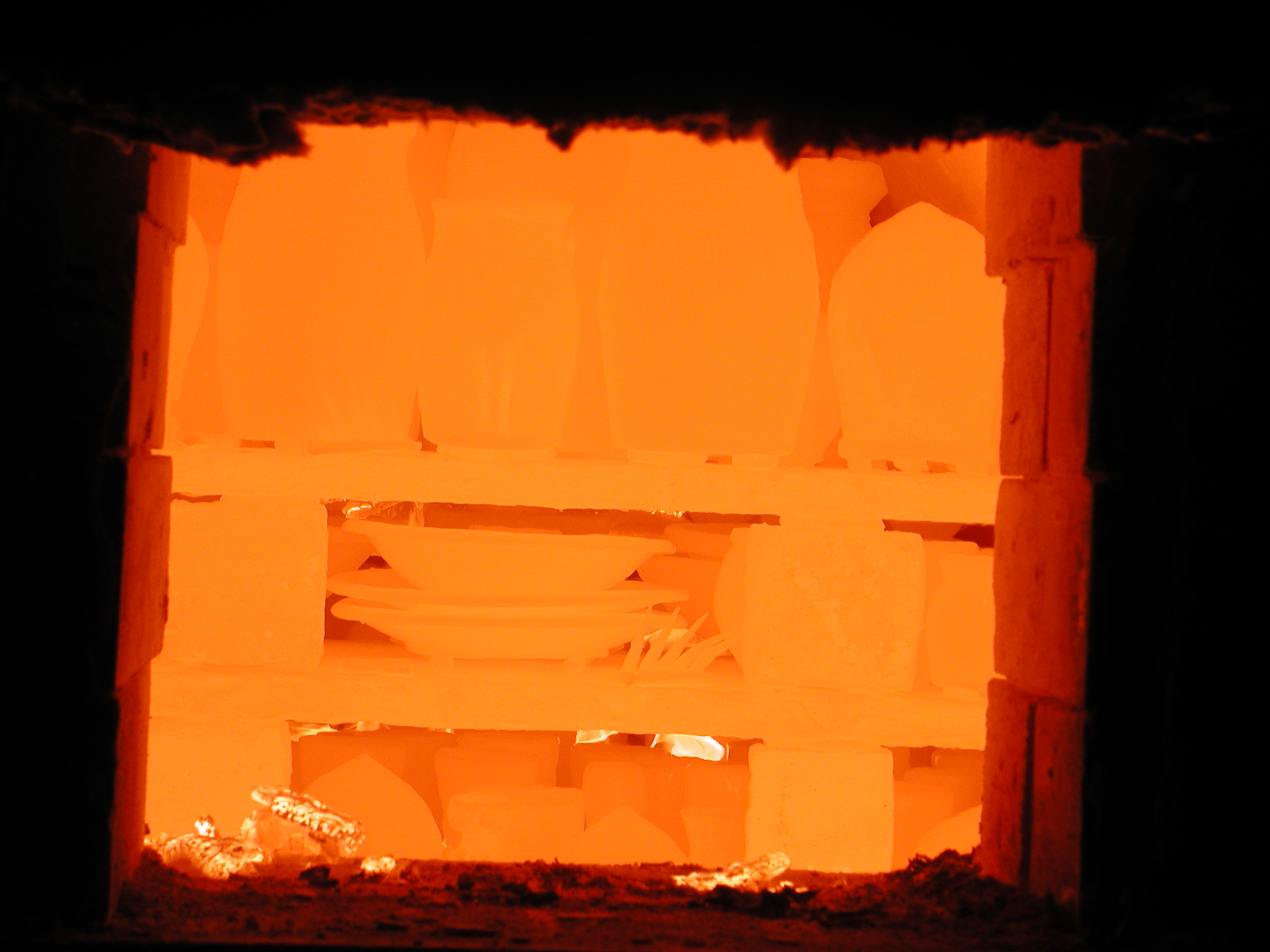 inside the kiln