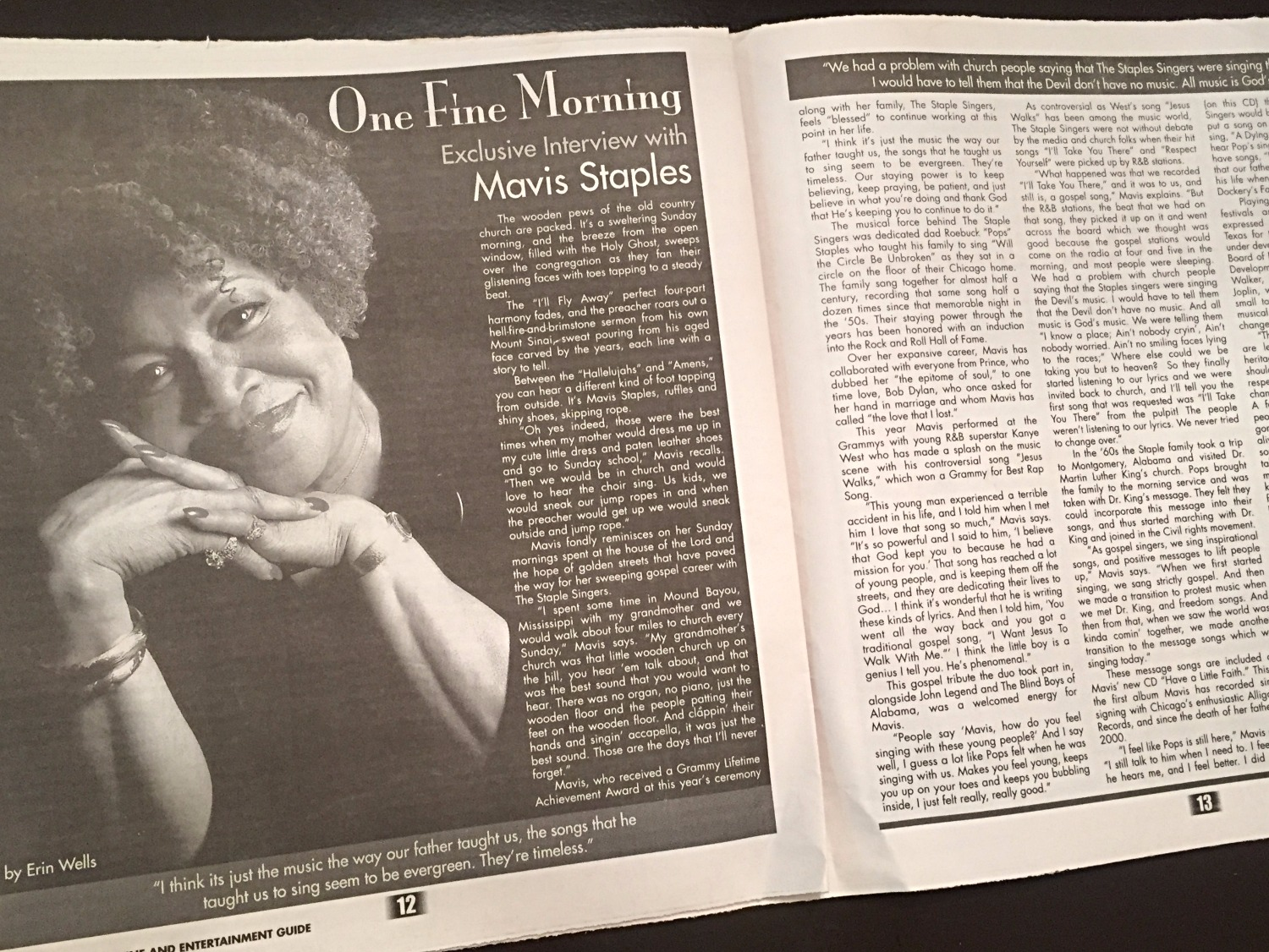 Mavis Staples Interview