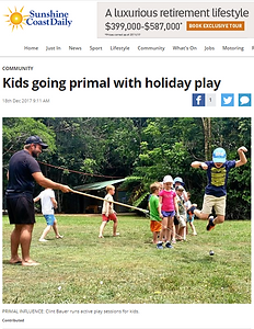 Sunshin Coast Daily Primal Play Kids article