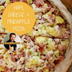 Ham, Cheese + Pineapple Pizza
