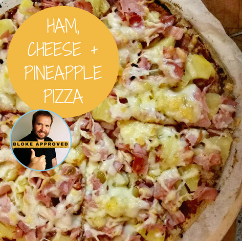 Ham, Cheese + Pineapple Pizza