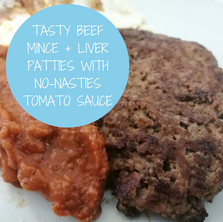 Beef Mince + Liver Patties