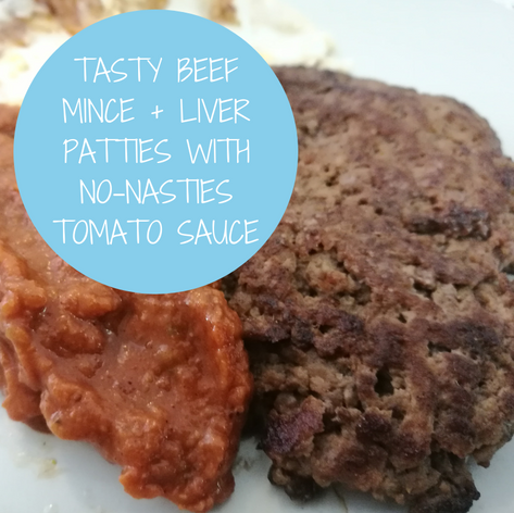 Beef Mince + Liver Patties