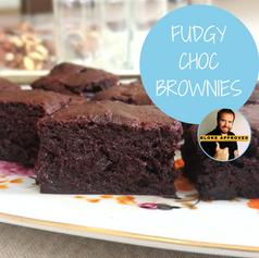 Fudgy Choc Brownies