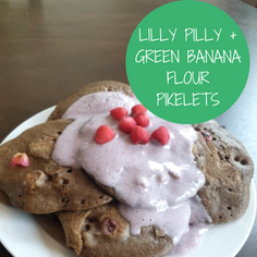Lilly Pilly and Green Banana Flour Pikelets