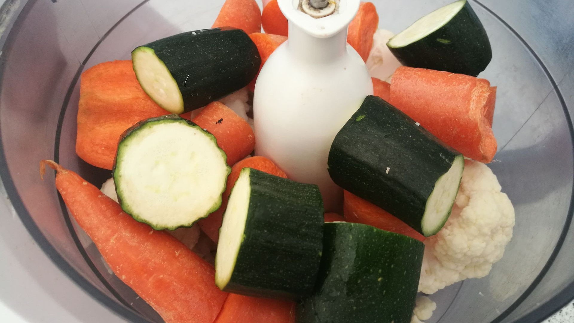 Food process the veggies