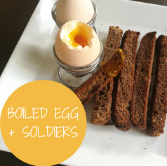 Paleo Boiled Egg + Soldiers