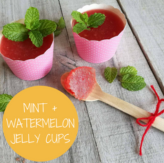 Mint + Watermelon Jelly Cups