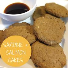 Sardine + Salmon Cakes