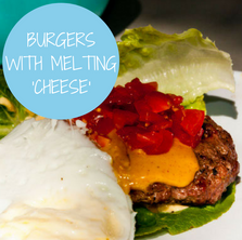Paleo Burger with Melting Cheese