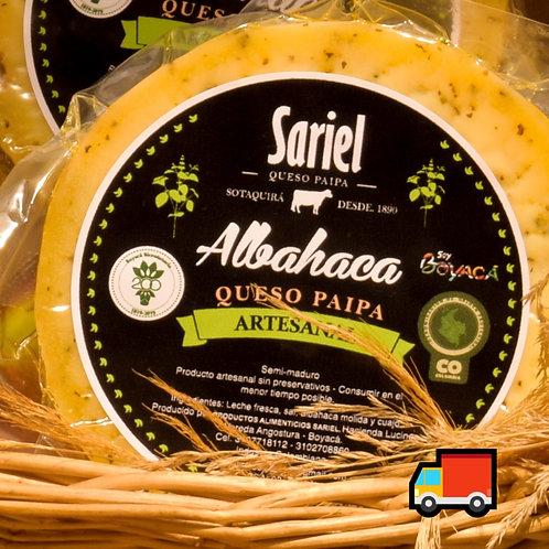 Queso Gourmet Albahaca / 200 Gr