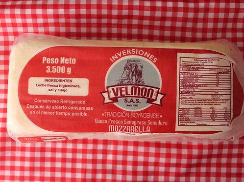 Bloque Queso Mozzarella Velmon/5lbs
