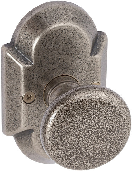 Sandcast Tulum Knob with Curved Backplate - Dummy