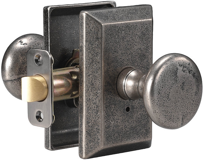 Sandcast Tulum Knob with Squared Backplate - Passage