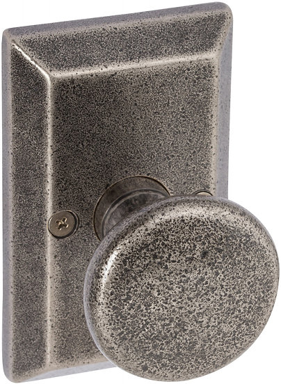 Sandcast Tulum Knob with Squared Backplate - Dummy