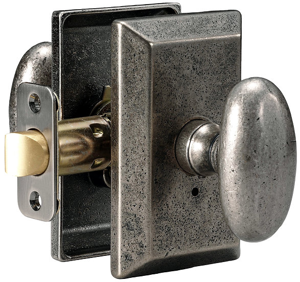 Sandcast Rosa Knob with Squared Backplate - Passage