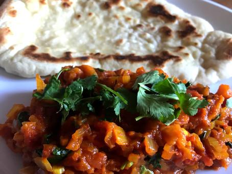 Melting Aubergine Curry (Naturally vegan)