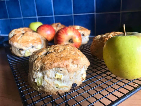 Fruity Apple-Cinnamon Scones