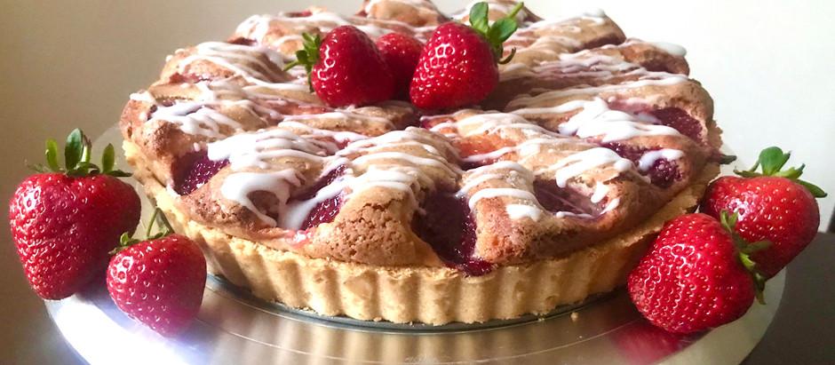 Fresh Strawberry & Vanilla Tart-Cake