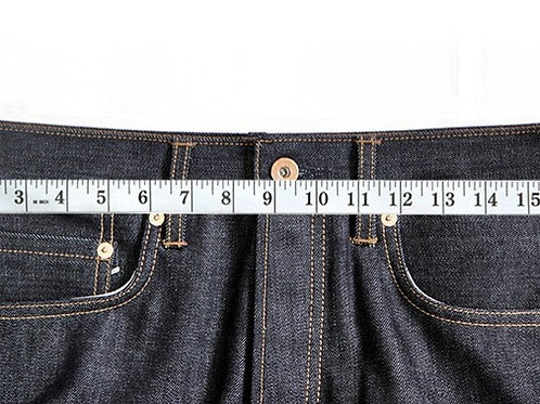 Jeans waist take in