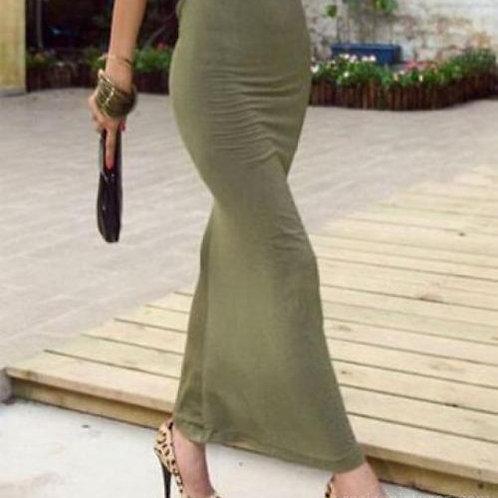 Maxi dress shorten - stretch fabric