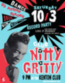 Chuck Jackson Club Nitty Gritty Rhythm & Blues Dance Party Poster, DJ Action Slacks Portland Soul DJ, Kenton Club Soul Night, Soul Dance Party Poster, Portland Graphic Designer