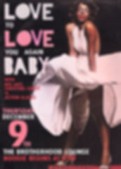 Love to Love You Baby 70s Soul Dance Party Poster, DJ Action Slacks, The Brotherhood Lounge Olympia Washington, Disco Soul Dance Party Poster,