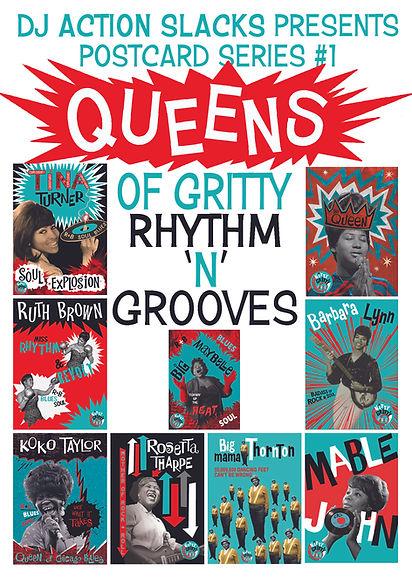 Club Nitty Gritty Postcards - Queens of Gritty Rhythm n Grooves, DJ Action Slacks Portland Soul DJ