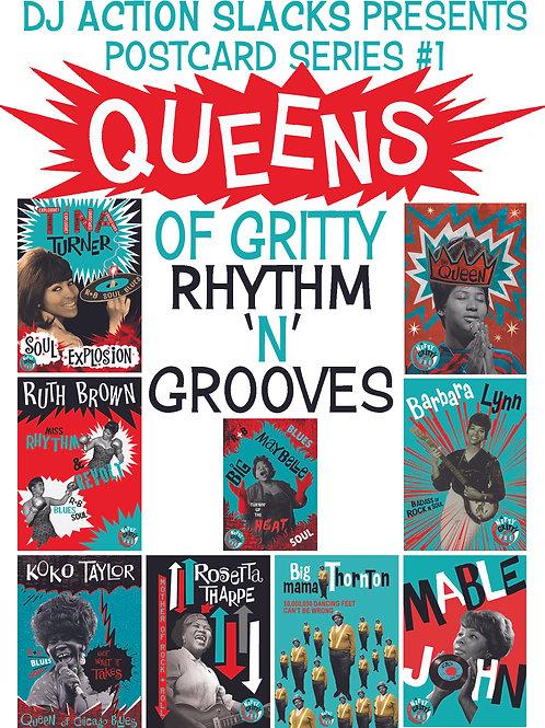 Queens of Gritty Rhythm 'n' Grooves 5 x 7 Postcard Set
