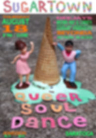 Sugar Town Summer Ice Cream Soulcial Vintage Soul Dance Party Poster, DJ Action Slacks Portland Soul DJ, the Saratoga soul night, Queer Soul Dance Party Poster, Portland Graphic Designer