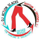DJ Action Slacks rhythm n grooves Logo 2