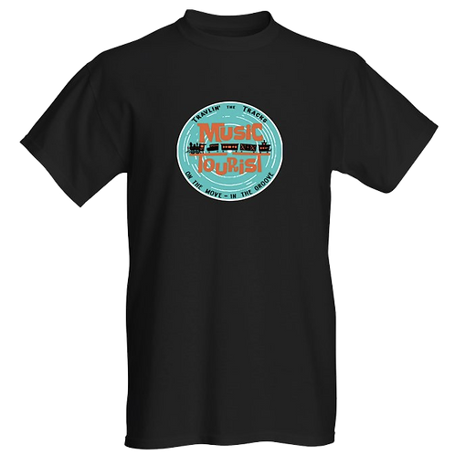 T-Shirt - Music Tourist/Travlin' the Tracks