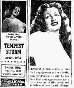 Tempest Storm Portland