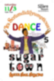 Sugar Town Scrumdidlyumptious Vintage Soul Dance Party Poster, DJ Action Slacks Portland Soul DJ, the Spare Room soul night, Portland Graphic Designer