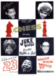 Chess Records Tribute, DJ Shannon, DJ Action Slacks, The Brotherhood Lounge Olympia Washington, Soul Dance Party Poster