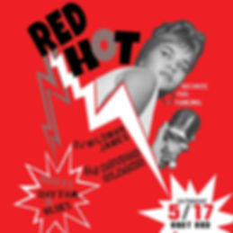 Red Hot Rhythm & Blues Dance Party Poster, DJ Action Slacks, The East End Soul Night May, Portand Graphic Designer