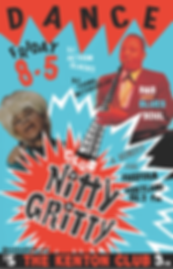 Club Nitty Gritty Rhythm & Blues Dance Party Poster, Freeform Portland Radio Benefit event, DJ Action Slacks Portland Soul DJ, Kenton Club Soul Night, Portland Graphic Designer