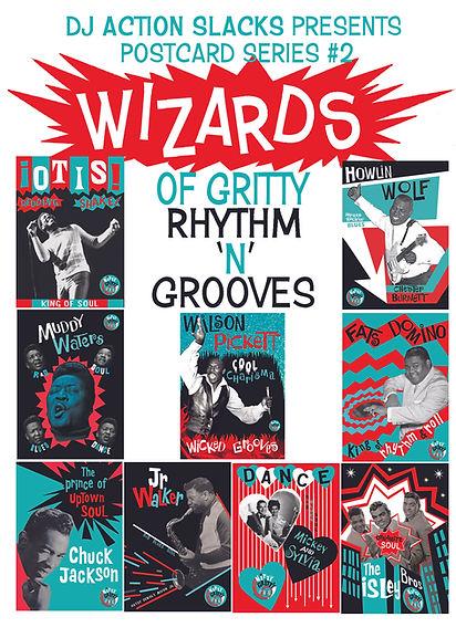 Club Nitty Gritty Postcards - Wizards of Gritty Rhythm n Grooves, DJ Action Slacks Portland Soul DJ