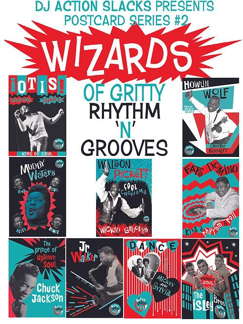 Wizards of Rhythm 'n' Grooves 5 x 7 Postcard Set