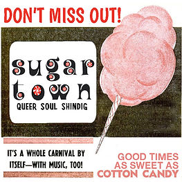 Sugar Town Ad, DJ Action Slacks, the Spare Room Soul Night, Sugar Town Queer Soul Dance Party Poster, Portland Queer Soul Nite, Portland Queer Soul Night, Vintage Soul 60s Soul Dance Party Poster, DJ Action Slacks Portland Soul Dj, Oldies DJ, 1960s DJ, 1960s Party Poster, 1950s Party Poster, Soul Dance Party Poster, Soul Party Poster, Portland Graphic Designer, Portland Poster Designer, Portland Event Poster Designer, Portland Concert Poster Designer, Portland soul nite